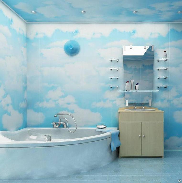 Стены в ванной из пластиковых панелей