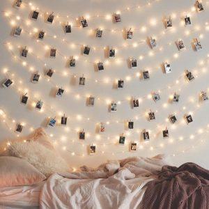 фотографии на стене на новый год