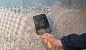 Штукатурка стен из бетона
