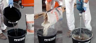 Приготовление раствора клея для газоблоков