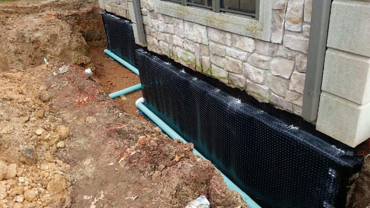 Работы по гидроизоляции готового жилого дома